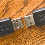 Close-up of the engraved USB connector. Real one is engraved.
